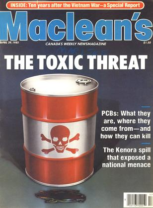Cover for the April 29 1985 issue