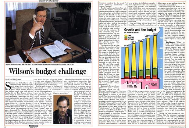 Wilson's budget challenge
