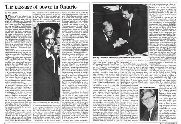The passage of power in Ontario