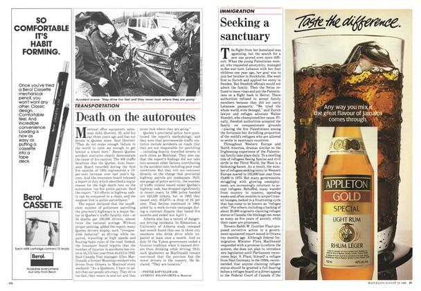 Death on the autoroutes   Maclean's   AUGUST 19, 1985