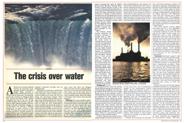 The crisis over water