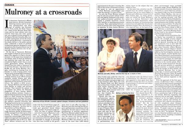 Mulroney at a crossroads