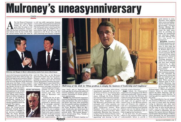 Mulroney's uneasy anniversary