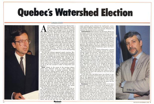 Quebec's Watershed Election