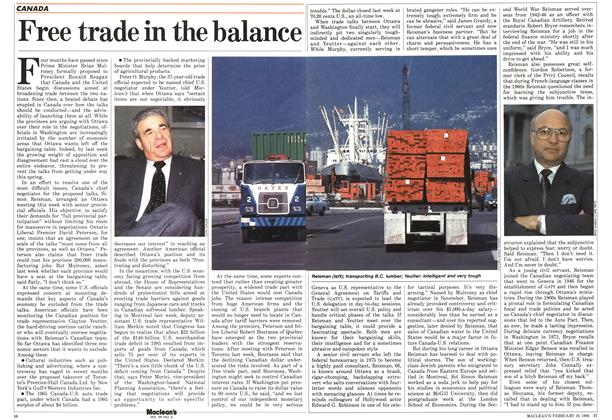 Free trade in the balance