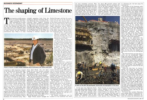 The shaping of Limestone