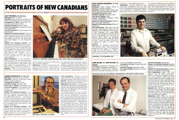 PORTRAITS OF NEW CANADIANS