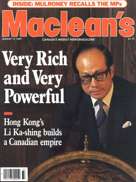 Issue: - August 1987   Maclean's
