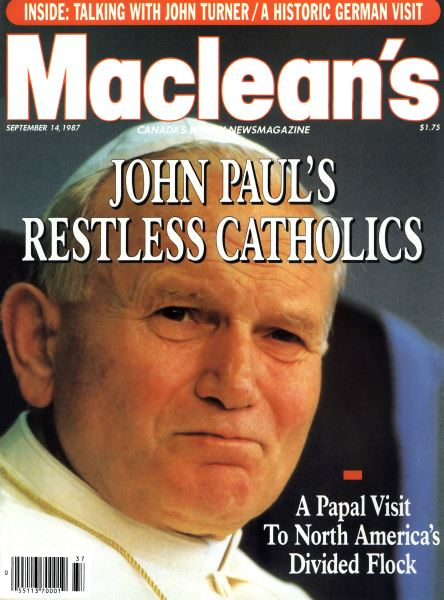 Issue: - SEPTEMBER 14,1987 | Maclean's