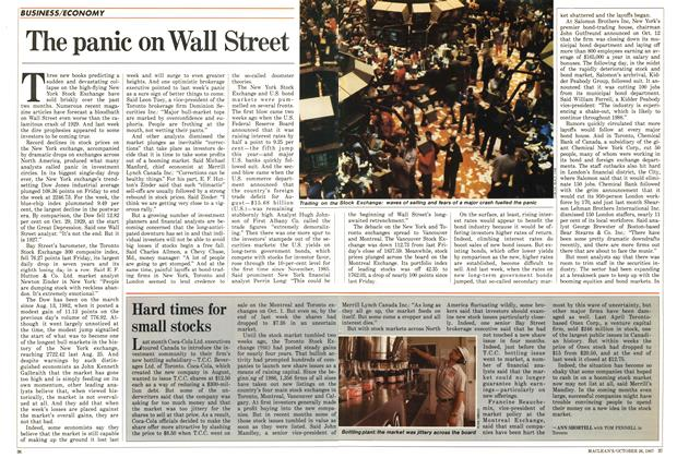 The panic on Wall Street