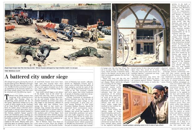 A battered city under siege