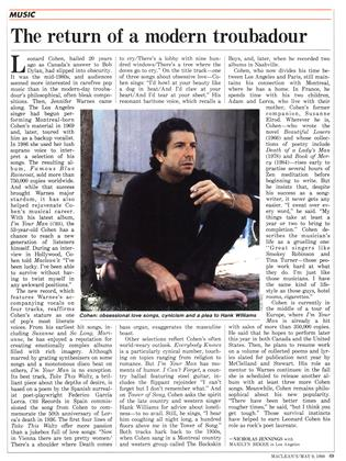The return of a modern troubadour, Page: 69 - MAY 9, 1988 | Maclean's