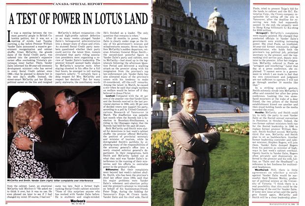 A TEST OF POWER IN LOTUS LAND