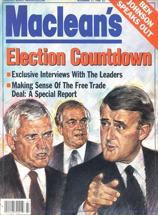 Cover for the November 21 1988 issue