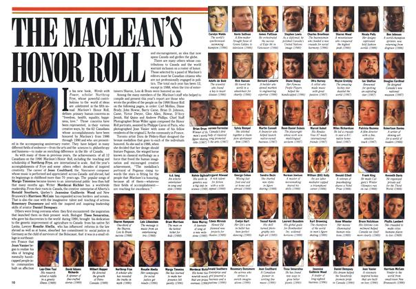 THE MACLEAN'S HONOR ROLL