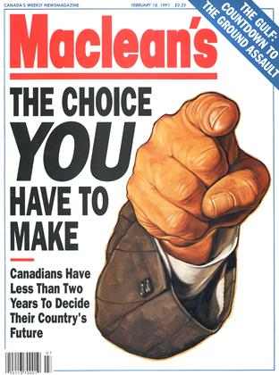Cover for the February 18 1991 issue
