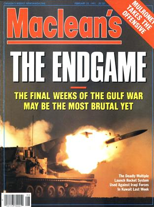 Cover for the February 25 1991 issue