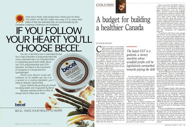 A budget for building a healthier Canada