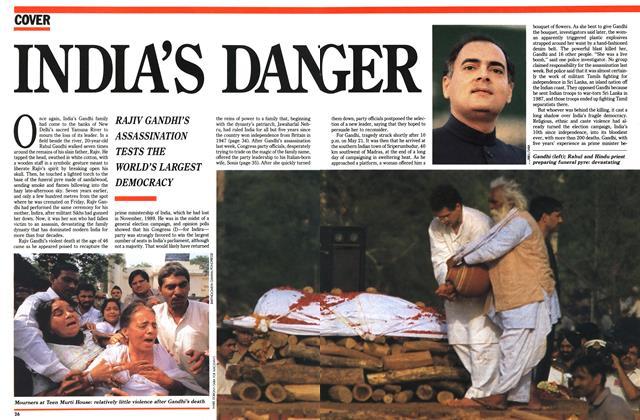 INDIA'S DANGER