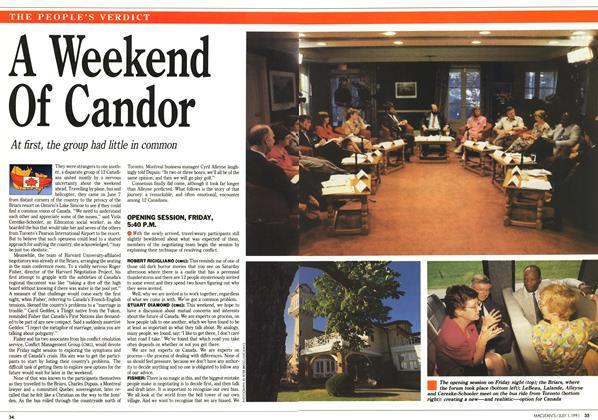 A Weekend Of Candor