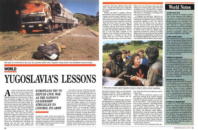 YUGOSLAVIA'S LESSONS