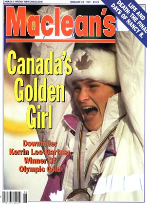 Cover for the February 24 1992 issue