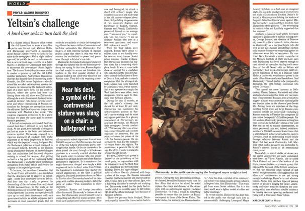 Yeltsin's challenge