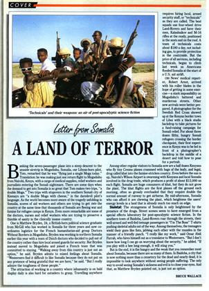 A LAND OF TERROR, Page: 26 - SEPTEMBER 7, 1992 | Maclean's