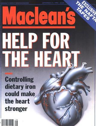 SEPTEMBER 21, 1992 | Maclean's