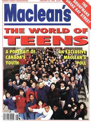 Cover for the February 22 1993 issue