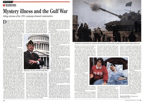 Mystery illness and the Gulf War