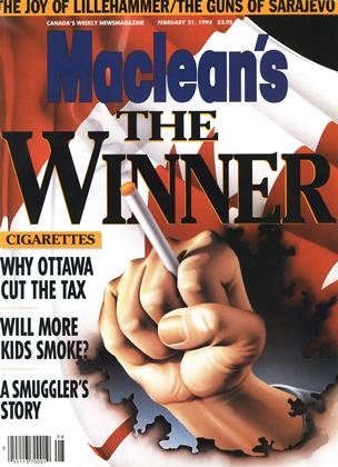 Cover for the February 21 1994 issue