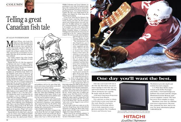 Telling a great Canadian fish tale, Page: 72 - SEPTEMBER 19, 1994 | Maclean's