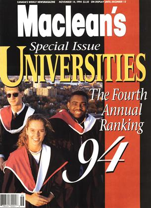 NOVEMBER 14, 1994 | Maclean's