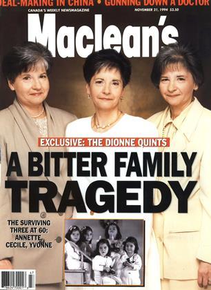 NOVEMBER 21, 1994 | Maclean's