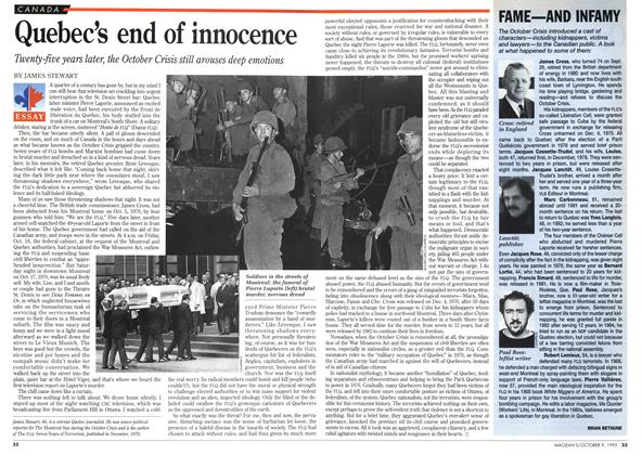 Quebec's end of innocence