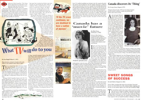 "CANADA Has a ""MOVIE"" FUTURE 