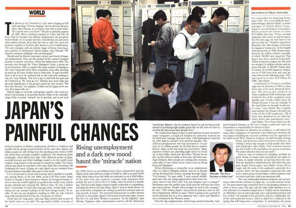 JAPAN'S PAINFUL CHANGES