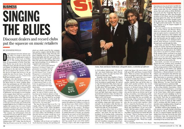 SINGING THE BLUES | Maclean's | JANUARY 22, 1996