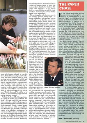 THE PAPER CHASE, Page: 15 - APRIL 22, 1996   Maclean's