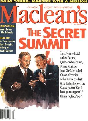 OCTOBER 21, 1996 | Maclean's