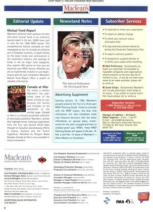 Advertisement, Page: 6 - JANUARY 12, 1998   Maclean's