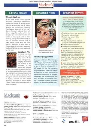 Advertisement, Page: 12 - JANUARY 26, 1998   Maclean's