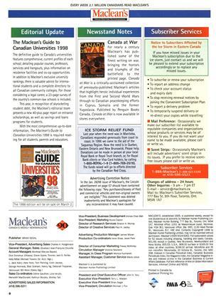 Maclean's, Page: 6 - FEBRUARY 2, 1998   Maclean's