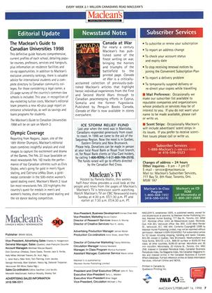 Advertisement, Page: 7 - FEBRUARY 16, 1998   Maclean's
