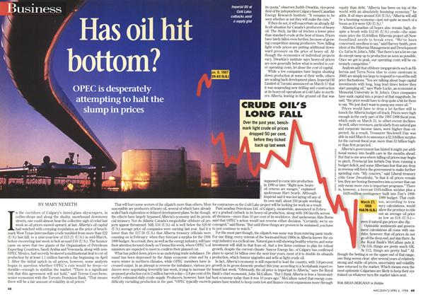 Has oil hit bottom?