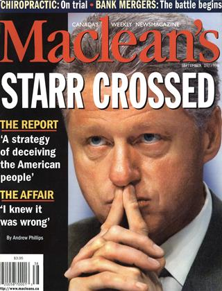 Cover for the September 21 1998 issue