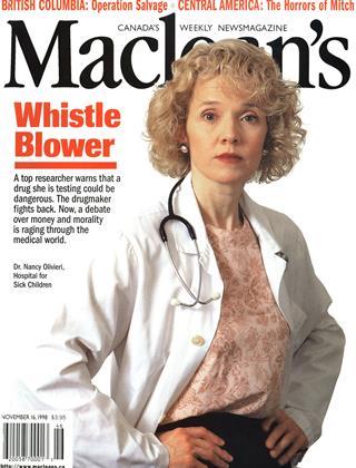 NOVEMBER 16, 1998 | Maclean's