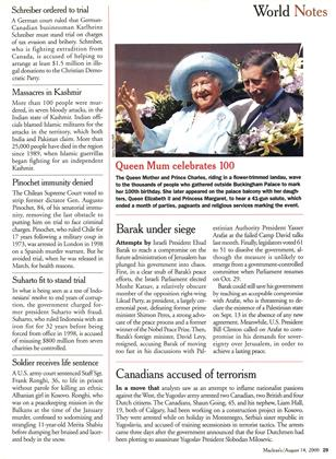 World Notes, Page: 29 - August 14, 2000 | Maclean's