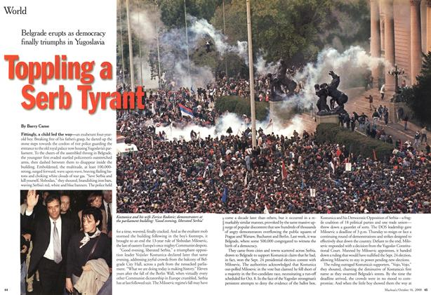 Toppling a Serb Tyrant, Page: 44 - October 16, 2000   Maclean's